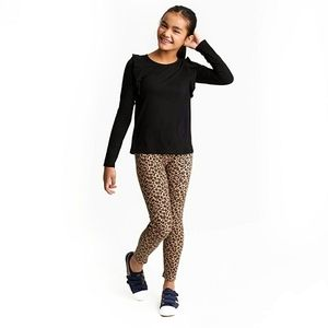 French Toast Leopard Print Stretch Jeggings 10